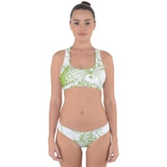 Fruits Vintage Food Healthy Retro Cross Back Hipster Bikini Set
