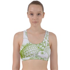 Fruits Vintage Food Healthy Retro Back Weave Sports Bra