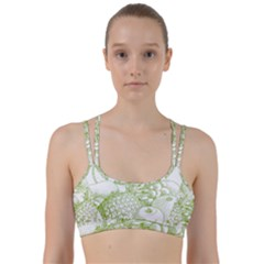 Fruits Vintage Food Healthy Retro Line Them Up Sports Bra