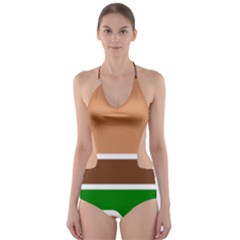Hamburger Fast Food A Sandwich Cut Out One Piece Swimsuit