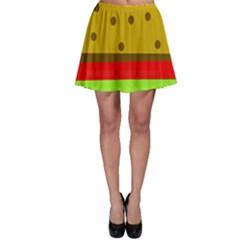 Hamburger Food Fast Food Burger Skater Skirt