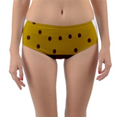 Hamburger Food Fast Food Burger Reversible Mid Waist Bikini Bottoms