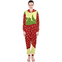 Nature Deserts Objects Isolated Hooded Jumpsuit (ladies)