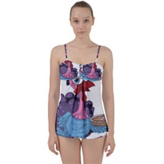 Turkey Animal Pie Tongue Feathers Babydoll Tankini Set