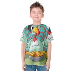 Pie Turkey Eating Fork Knife Hat Kids  Cotton Tee