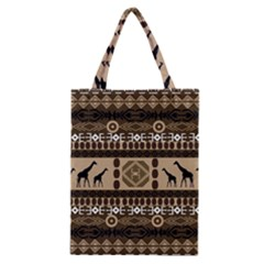 Giraffe African Vector Pattern Classic Tote Bag