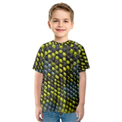 Lizard Animal Skin Kids  Sport Mesh Tee
