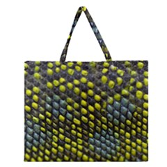 Lizard Animal Skin Zipper Large Tote Bag