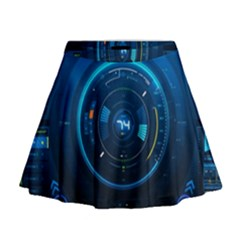 Technology Dashboard Mini Flare Skirt