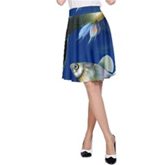 Marine Fishes A Line Skirt