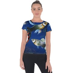 Marine Fishes Short Sleeve Sports Top