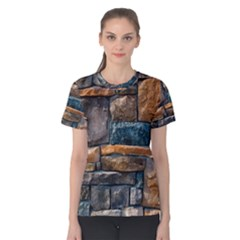 Brick Wall Pattern Women s Cotton Tee