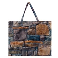 Brick Wall Pattern Zipper Large Tote Bag