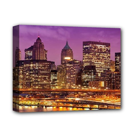 City Night Deluxe Canvas 14  X 11