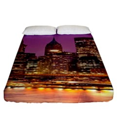 City Night Fitted Sheet (king Size)