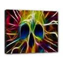 Skulls Multicolor Fractalius Colors Colorful Canvas 14  x 11  View1