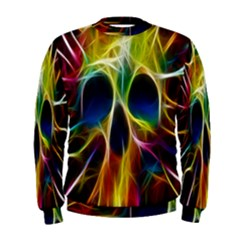 Skulls Multicolor Fractalius Colors Colorful Men s Sweatshirt