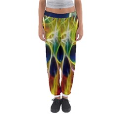 Skulls Multicolor Fractalius Colors Colorful Women s Jogger Sweatpants