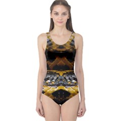 Textures Snake Skin Patterns One Piece Swimsuit