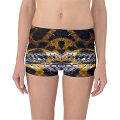 Textures Snake Skin Patterns Reversible Boyleg Bikini Bottoms