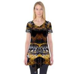 Textures Snake Skin Patterns Short Sleeve Tunic