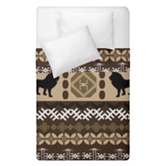 Lion African Vector Pattern Duvet Cover Double Side (single Size)