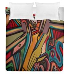 Vivid Colours Duvet Cover Double Side (queen Size)