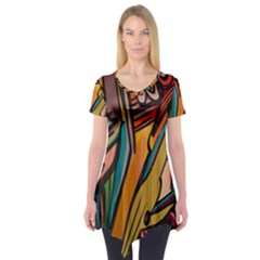Vivid Colours Short Sleeve Tunic