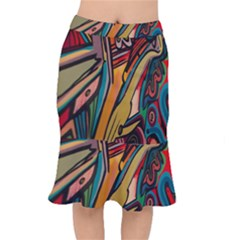 Vivid Colours Mermaid Skirt