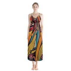 Vivid Colours Button Up Chiffon Maxi Dress