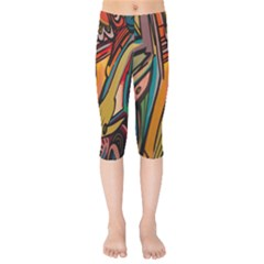 Vivid Colours Kids  Capri Leggings