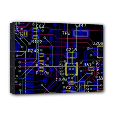 Technology Circuit Board Layout Deluxe Canvas 16  X 12