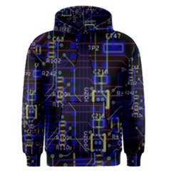 Technology Circuit Board Layout Men s Pullover Hoodie