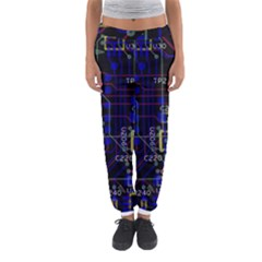 Technology Circuit Board Layout Women s Jogger Sweatpants