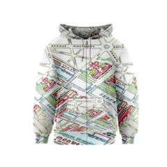 Paris Map Kids  Zipper Hoodie
