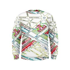 Paris Map Kids  Sweatshirt