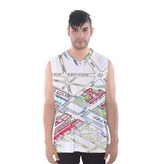 Paris Map Men s Basketball Tank Top