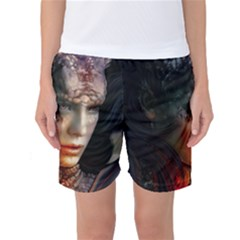Digital Fantasy Girl Art Women s Basketball Shorts