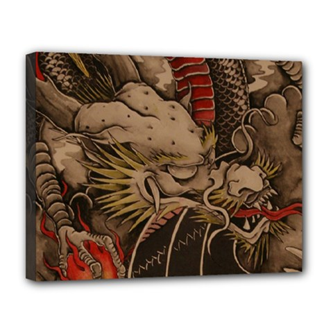 Chinese Dragon Canvas 14  X 11