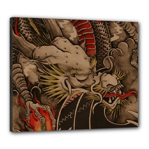 Chinese Dragon Canvas 24  X 20