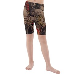 Chinese Dragon Kids  Mid Length Swim Shorts