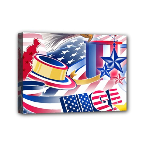 United States Of America Usa  Images Independence Day Mini Canvas 7  X 5