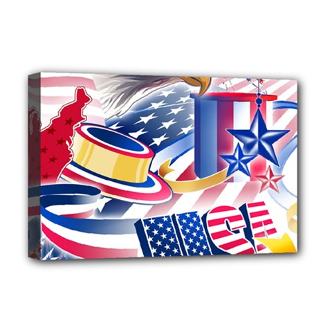 United States Of America Usa  Images Independence Day Deluxe Canvas 18  X 12