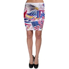 United States Of America Usa  Images Independence Day Bodycon Skirt