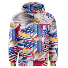 United States Of America Usa  Images Independence Day Men s Zipper Hoodie