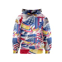 United States Of America Usa  Images Independence Day Kids  Zipper Hoodie