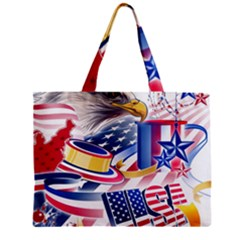 United States Of America Usa  Images Independence Day Zipper Mini Tote Bag