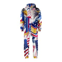 United States Of America Usa  Images Independence Day Hooded Jumpsuit (kids)
