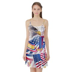 United States Of America Usa  Images Independence Day Satin Night Slip