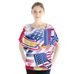 United States Of America Usa  Images Independence Day Blouse